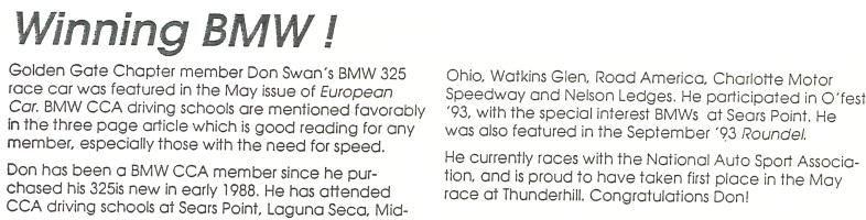 winning BMW clipping