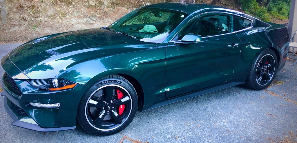 Reward for finishing my book and my need to maintain some speed after racing. Mustang McQueen Bullitt boasting about 500hp ought to suffice for a while.  (Cheri Swan)
